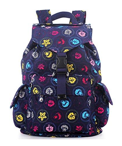 Keshi Leinwand Cool Damen accessories hohe Qualität Einfache Tasche Schultertasche Freizeitrucksack Tasche Rucksäcke Blau