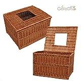 1-20 Wurfbox / Wurfkiste für Katzen aus Weide von GalaDis (60 x 50 x 40 cm), Eingang im Deckel