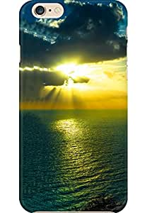AMEZ Apple iPhone 6 Plus High Quality Printed Back Case (Mountain Sea Ocen Clouds Night)