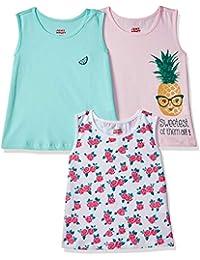 Amazon Brand - Jam & Honey Girl's Tribal Regular fit T-Shirt (Pack of 3)