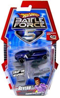 Hot Wheels Battle Force 5 1:64 Scale Die Cast Car Reverb (Special Battle Zone Edition) by Mattel