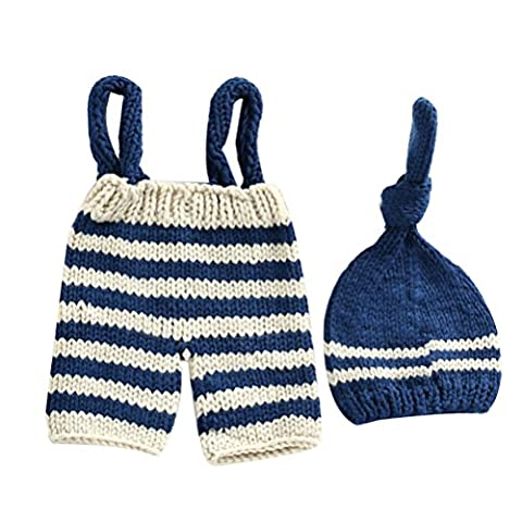 Zhhlaixing Newborn Baby Boys Crochet Knit Costume Clothes Photo Photography Prop Hat Pants Set