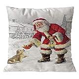 Amphia Dekorativ Kissenbezug Baumwollwäsche Weihnachts-Kissen-Sofa-Auto-Wurf Kissen Deckel zu Hause Dekor(viele Größen und Farben)