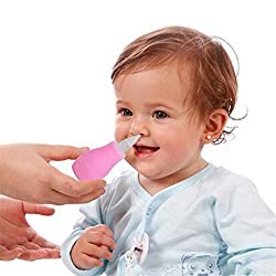 Dekawei 1PCS Nasal Aspirator Snot Sucker Clear Nasal Mucus Remover Baby Suction Nose Cleaner Baby Care New (Pink)