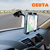 #8: CEUTA™ ,[ Car Tablet Mount ] Full Rotating | Strong Suction Cup | For Windshield / Dashboard Adjustable Car Tablet Mount & Cradle Stand Mount Many flat surfaces such as Desktop | Comfortably watch movies | TV or play video games | Tab Holder for 7 to 10 Inch Kindle / iPad / Tablets Exclusively by ** Ubic Design (Black)