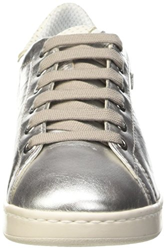 Geox D Jaysen A, Scarpe Low-Top Donna Argento