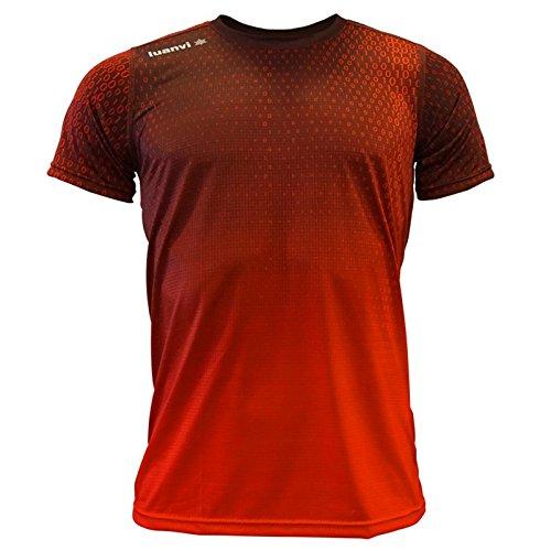 Luanvi Edición Limitada Camiseta técnica Binary, Hombre, Rojo, M (50-68cm)