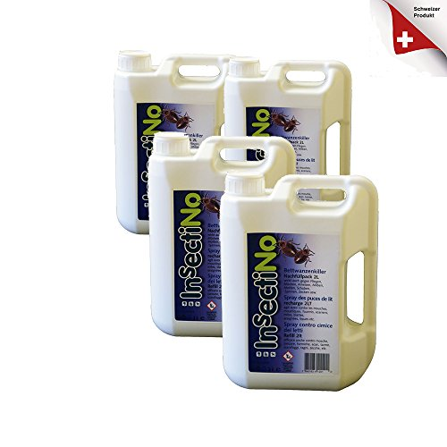 INSECTINO Bettwanzenkiller 4 x 2 ltr Bettwanzenkiller - Bettwanzenspray, Bettwanzenmittel