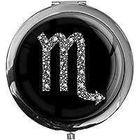 """metALUm - Extragroße Pillendose in runder Form""""Sternzeichen Skorpion in Silber"""" preisvergleich bei billige-tabletten.eu"""