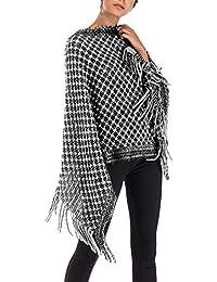 4b773fc4db0e Cape Femme Printemps Automne Oversize Etole Elégante Vintage Manche  Chauve-Souris Poncho De Base Fashion