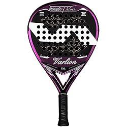 Varlion Avant Velvet SYL - Pala de padel para mujer, 38mm, color negro/rosa