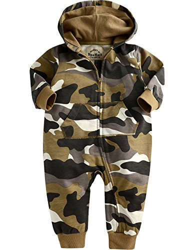 Vaenait Baby 6-24M Jungen Saugling Hooded Jumpsuit Rompers Hoodie Camo L (Baby-camo)