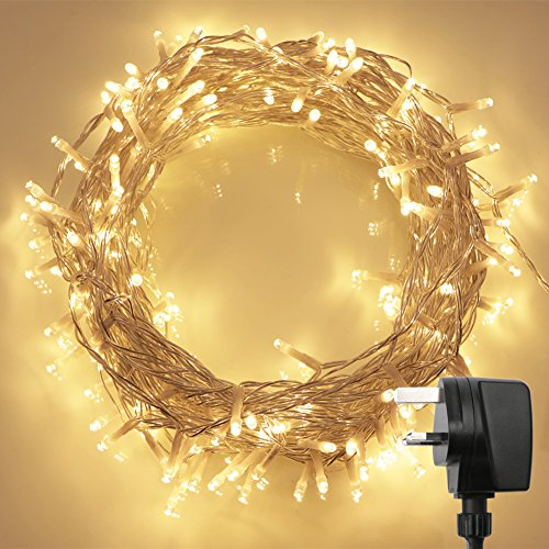 200 LED Indoor Fairy Lights w/ Remote & Timer on 69ft Clear String (8 Modes, Dimmable, Low Voltage Plug, Warm White) Test