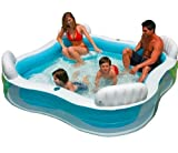 Intex Kinderpool Swim-Center Family Lounge Pool, Mehrfarbig, 229 x 229 x 66 cm -