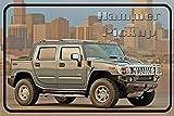 'Hammer Pickup' - Hummer, humvee, auto schild aus blech,
