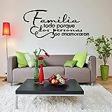 Vinyl Schriftzug Zitat Wall Decal Familie alle, weil zwei Menschen verliebt Familie Wandkunst Aufkleber Schlafzimmer n1 57x25cm