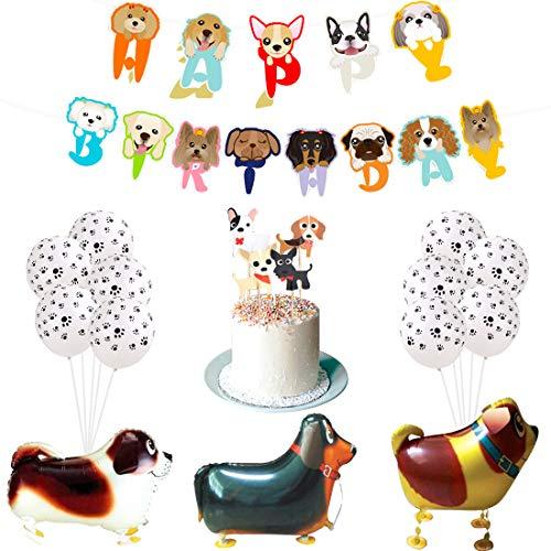 Fangleland Decoraciones de cumpleaños de Mascotas para Perros Cachorros Niñas o niños...