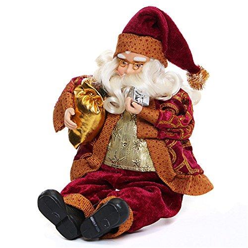 Andensoner 35 cm seduta bambola di babbo natale, festa di natale decorazione 35 cm seduto babbo natale ornamento giocattoli per bambini regalo per bambini
