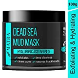 Matra Naturals Dead Sea Mud Mask for face, acne & blackheads - Hyaluronic