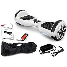 S de equilibrio scooter segwheel eléctrico Roller Smart Wheel eléctrico E–Monopatín E Tarjeta, Weiss
