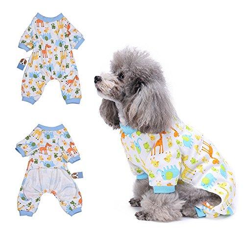 Hund Flanell-pyjama Set (Pyjama Giraffe Hund Kleidung angenehm Puppy pyjamsa Weich Hund Jumpsuit Shirt 100% Baumwolle Mantel für kleine Hunde und Katzen von hongyh)