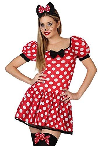 Atosa - 26300, Costume da Donna per travestimento da Minnie, taglia: XL
