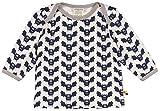 loud + proud Unisex Baby Langarmshirt Shirt, Druck, Blau (Midnight Mi), 92