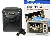 Foto Kamera Tasche INTERCEPT S Leder Set mit Fotobuch Ihre Exilim Casio für QV-R300 Z800