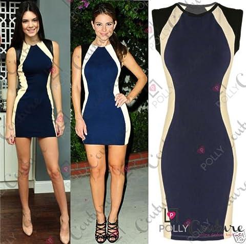 Womens Boutique Navy Tunic Basic Jersey Bodycon Ladies Tunic Short Party Dress UK Size 10