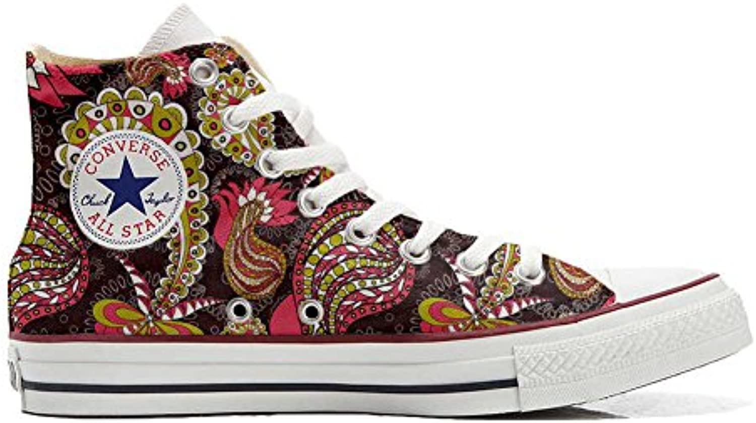 mys Converse All All Converse Star Hi Chaussures Coutume Mixte Adulte (Produit Artisanal) Vintage PaysleyB06X959JSCParent 6491f8