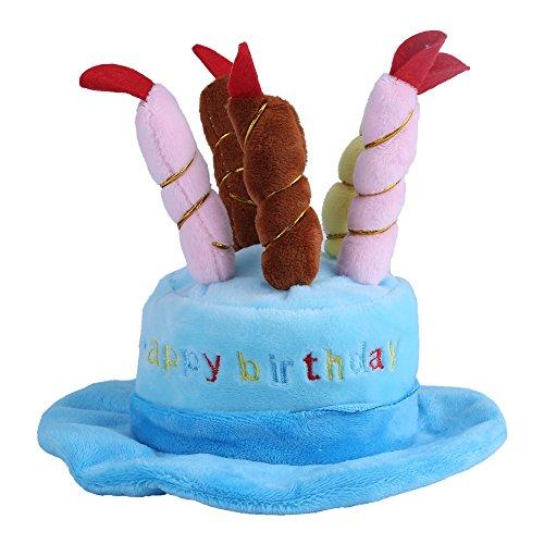Kostüm Bear Kopf Hut - Zouminy Candles Design Pet Kostüm Geburtstag Hüte Zubehör für Hunde oder Katzen Kleintiere(Blau)