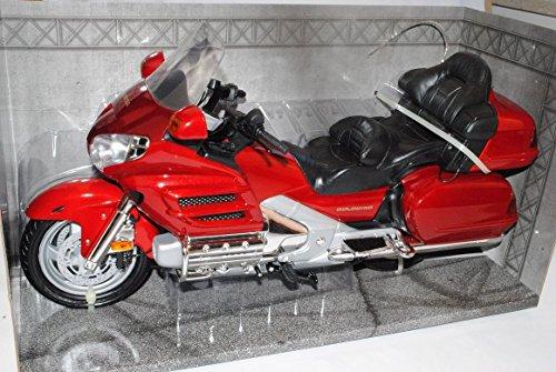 Honda Goldwing Rot 1/6 Motormax Modell Motorrad mit individiuellem Wunschkennzeichen