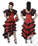 Funny Fashion Costume da Donna Ballerina di Flamenco Spagnolo Alessandra Taglia 44/46 (L) Carnevale