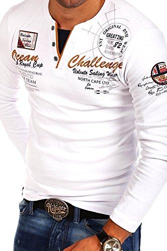 MT Styles 2in1 Longsleeve CHALLER T-Shirt R-0741 Weiß