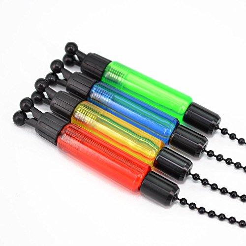 Swinger für Karpfenangeln, Angeln, mit Bissanzeiger, rot, gelb, blau, grün, 4 Stück, grün