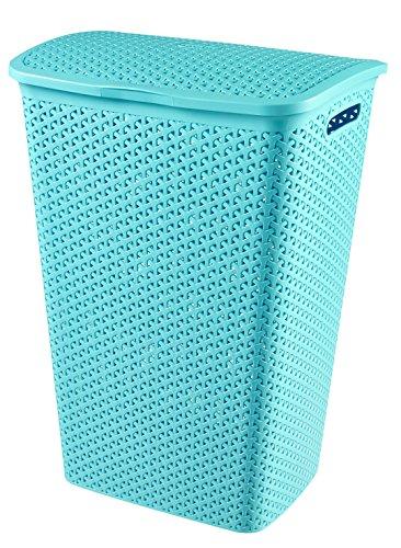 Curver 00713-X34-00 My Style Wäschebox 55 L, Plastik, Molokai blau, 42,8 x 33 x 60,4 cm