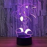 Night Light 3D, Lampe De Nuit 7 Couleurs Changent Mignon Crtoon Nime Pour Jouets...