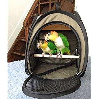 Generic .avel Portabl Foldable Pet ockat Cage Cockatiel Travel Po Parrot Transport ort Trave Bird Carrier Budgie r Bud Travel Portable rrier Budgie