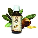 Olio di Argan Puro, 100% naturale e puro 50 ml, bottiglia di vetro, olio di base, ricco di retinolo, olio per il corpo, cura intensiva per viso, corpo, capelli, pelle, mani, anti-invecchiamento, uso puro, ottimo con olio essenziale / per bellezza / aromaterapia / relax / massaggi / benessere / cosmetici / cura del corpo / relax / Idratante / Cura della pelle / non diluito / olio per capelli / ingredienti di qualità / inodore / medicina alternativa di AROMATIKA