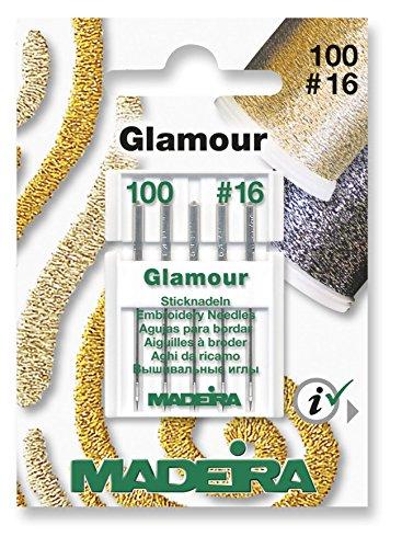 Madeira Glamour Maschine Nadeln 5Stück Größe 100/16–für alle Home Nähmaschinen (Indien Nähmaschine)