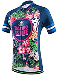 Camiseta de manga corta y pantalones para ciclismo, 2016azul oscuro, para mujeres y niñas, mujer, Only Jersey
