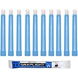 Cyalume VP-UOD2-W120 - Barras de luz azul SnapLight Glow Sticks 15 cm, 6 Inch Lightstick super brillante con duración de 8 horas (Caja de 10)