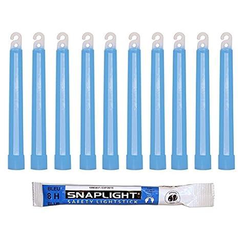 Cyalume Bâton lumineux bleu SnapLight Glow Sticks 15cm, Light Sticks très lumineux avec durée de 8 heures (Carton de 500)