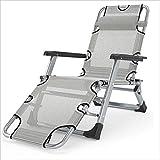 Eeayyygch Recliner/Klappstuhl mit Armlehne Garten Hof Außen tragbare Reclining Aluminium Modern Casual Designer Stuhl