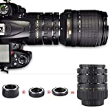 Mugast Conjunto de Anillos adaptadores de Lentes de cámara, autoenfoque Profesional 12 mm + 20 mm + 36 mm Extensión de Macro Anillos adaptadores establecidos para Nikon Lentes Al