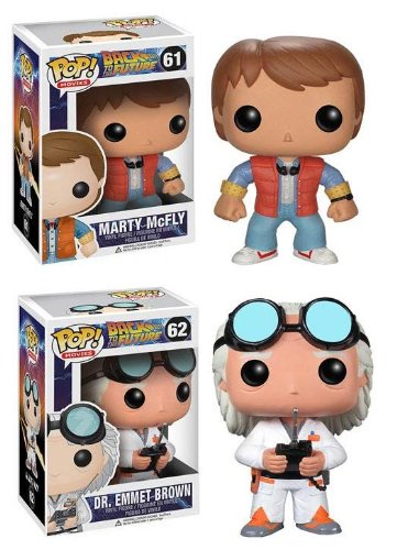 (Funko POP Vinyl Figure Back to the Future - Marty Mcfly & Doc Emmet Brown)