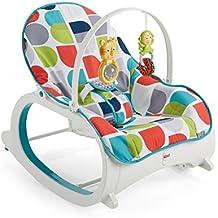 Fisher-Price FWX17 2-in-1 Schaukelsitz Schaukelstuhl und Wippe mit 2 Spielzeugen für Baby und Kleinkinder, ab 0 Monaten, bis ca. 18 kg