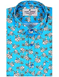 MARC JOBBS Men's Cotton Full Sleeves Casual Shirt(Blue_XLarge)