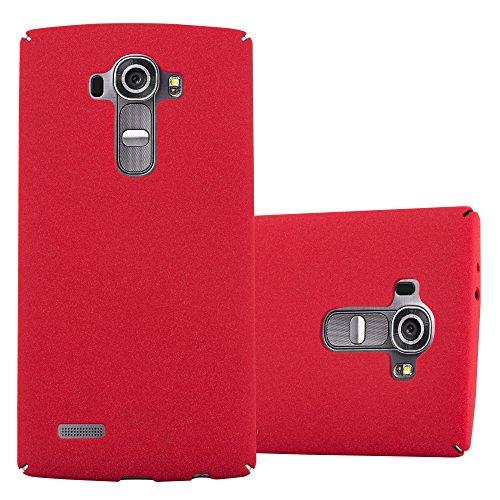 Preisvergleich Produktbild Cadorabo Hülle für LG G4 - Hülle in Frosty ROT – Hardcase Handyhülle im matten Frosty Design - Schutzhülle Bumper Back Case Cover