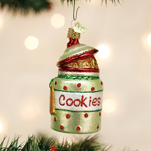 Old World Christmas Cookie Jar Glass Blown Ornament by Old World Christmas - Jar-cookies Glass